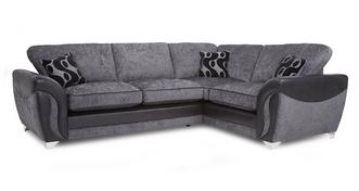 Farrow Left Hand Facing 3 Seater Formal Back Corner Sofa Bed