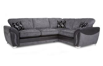 Left Hand Facing 3 Seater Formal Back Corner Sofa Bed Talia