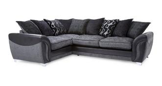 Farrow Right Hand Facing 3 Seater Pillow Back Corner Sofa Bed