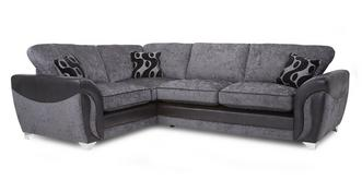 Farrow Right Hand Facing 3 Seater Formal Back Deluxe Corner Sofa Bed
