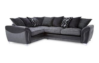 Right Hand Facing 3 Seater Pillow Back Deluxe Corner Sofa Bed
