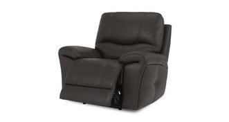 Form Leather and Leather Look Manual Recliner Chair
