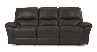 Form Leather and Leather Look 3 Seater Sofa