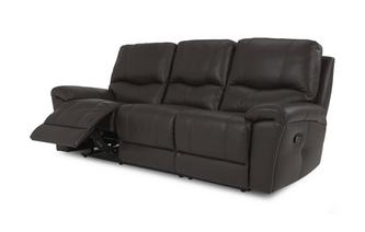 Leather and Leather Look 3 Seater Manual Recliner Select