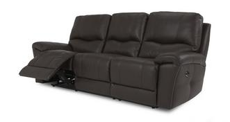 Form Leather and Leather Look 3 Seater Electric Recliner