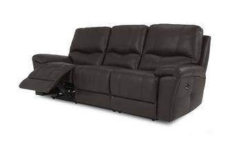 Leather and Leather Look 3 Seater Electric Recliner Select