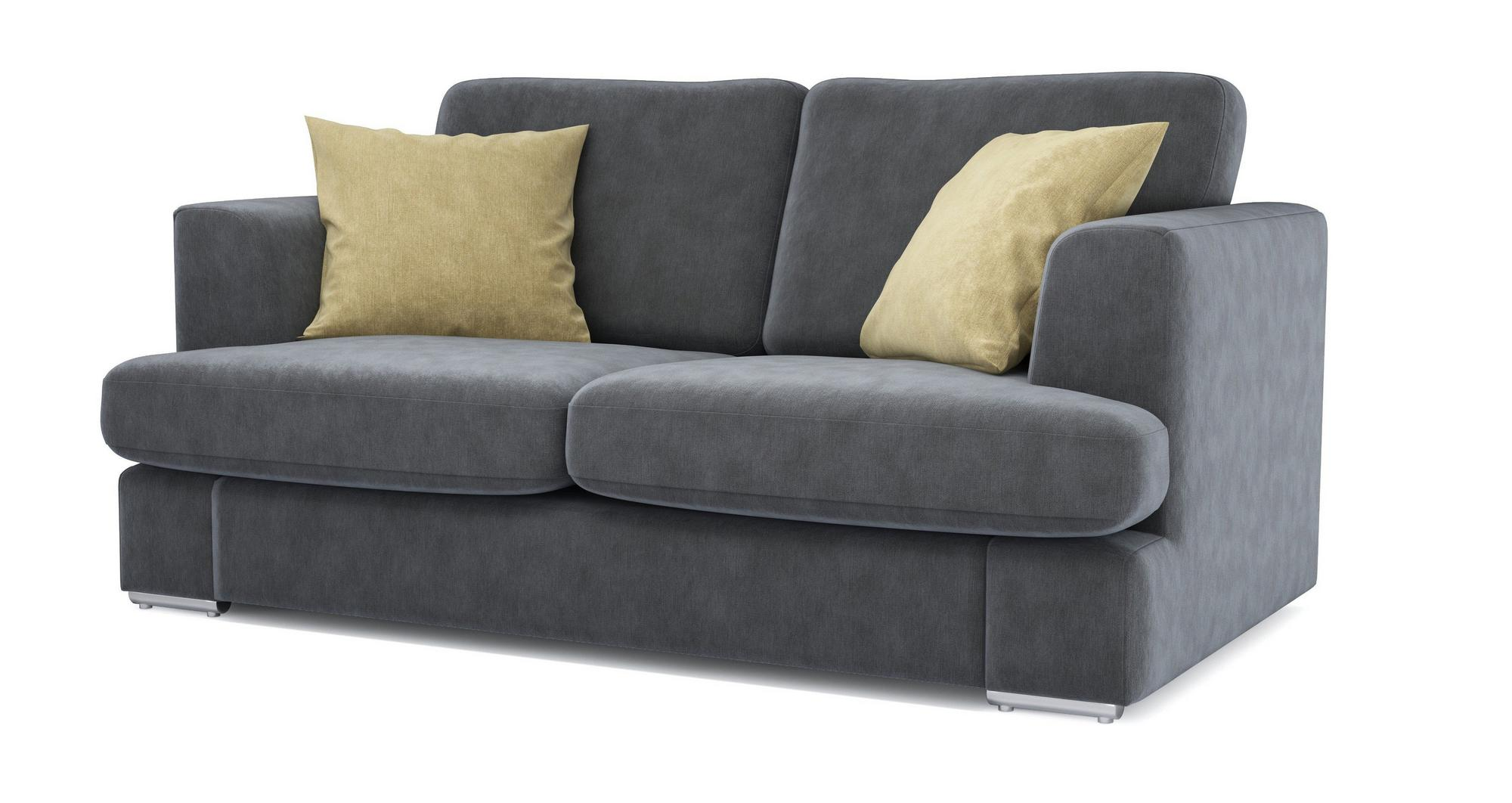 Dfs Freya Graphite Grey Fabric 2 Seater Sofa