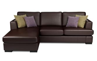 Leather corner sofas in a range of great styles browns dfs for Brown leather chaise end sofa