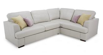 Freya Leather Left Hand Facing 2 Piece Corner Sofa