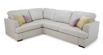 Freya Leather Right Hand Facing 2 Piece Corner Sofa
