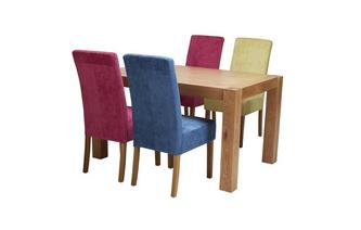 Fixed Dining Table & Set of 4 Upholstered Chairs Funk