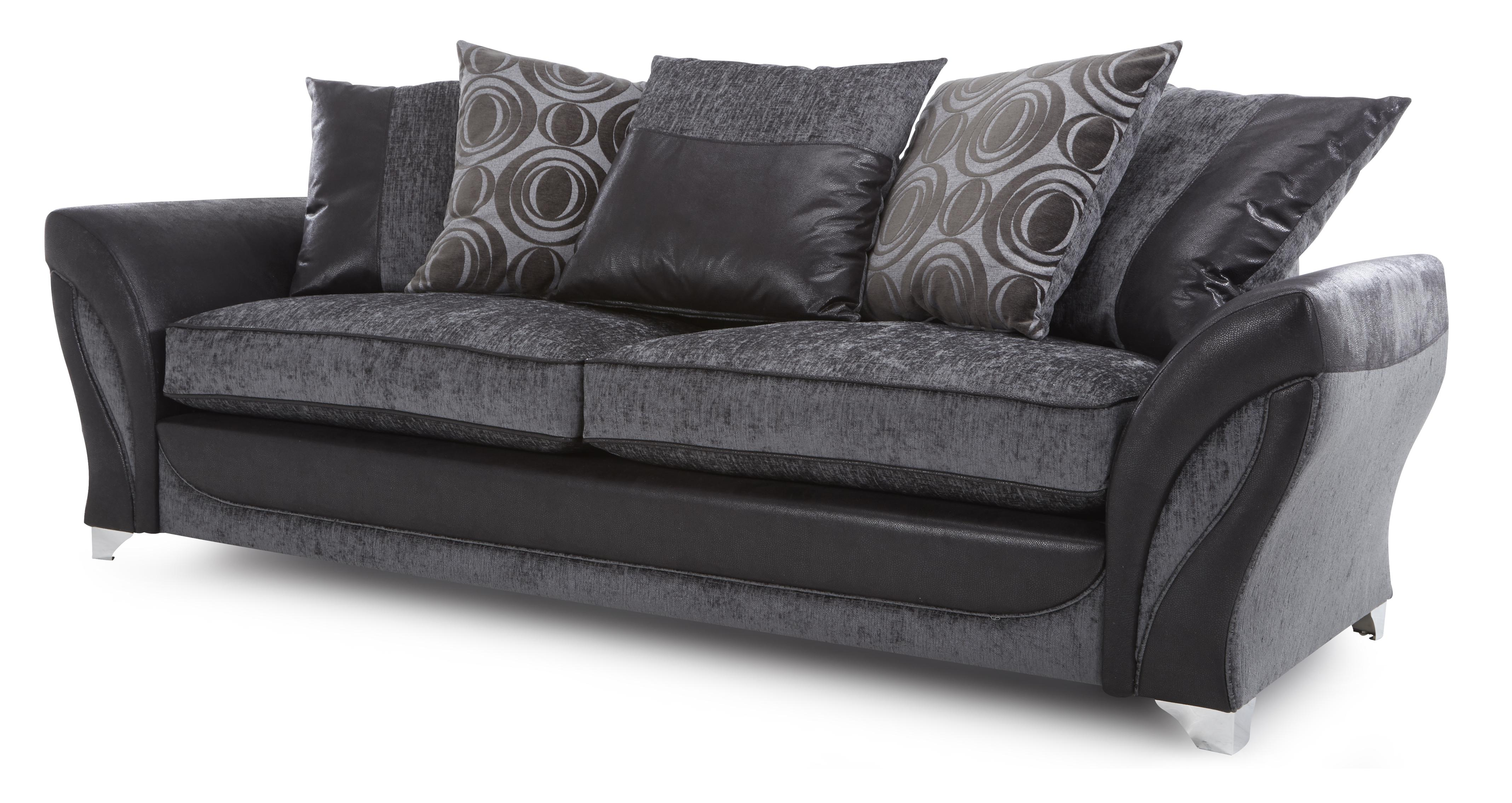 Dfs Gambit Charcoal Fabric Set Inc 4 Seater Sofa Audio