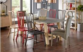 Gantry Large Trestle Table & Set of 4 Spike Chairs Gantry