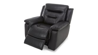 Garrick Leather and Leather Look Manual Recliner Chair