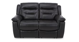 Garrick Leather and Leather Look 2 Seater Fixed Sofa