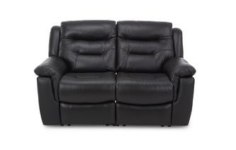 Leather and Leather Look 2 Seater Fixed Sofa Essential