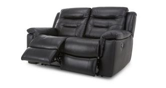 Garrick Leather and Leather Look 2 Seater Manual Recliner