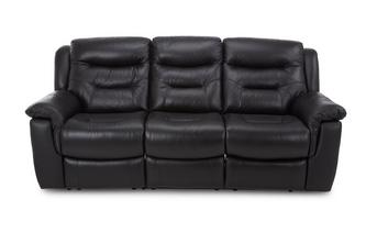 Leather and Leather Look 3 Seater Fixed Sofa