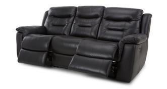 Garrick Leather and Leather Look 3 Seater Manual Recliner