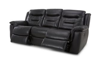 Leather and Leather Look 3 Seater Manual Recliner Essential