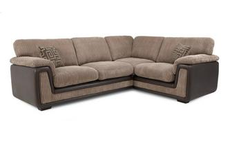 Left Hand Facing 2 Seater Formal Back Corner Sofa Genesis