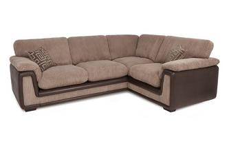 Left Hand Facing 2 Seater Formal Back Corner Sofa with Removable Arm Genesis