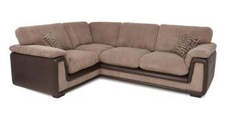 Genesis Right Hand Facing 2 Seater Formal Back Corner Sofa with Removable Arm