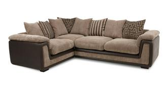 Genesis Right Hand Facing 2 Seater Pillow Back Corner Sofa