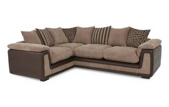 Right Hand Facing 2 Seater  Pillow Back Corner Sofa with Removable Arm