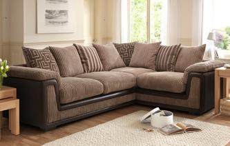 Genesis Left Hand Facing 2 Seater Pillow Back Corner Deluxe Sofa Bed Genesis
