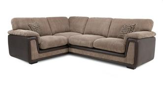 Genesis Right Hand Facing 2 Seater  Formal Back Corner Deluxe Sofa Bed