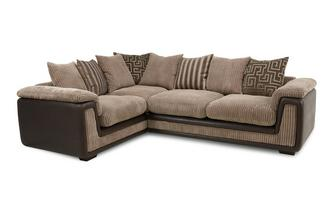 Right Hand Facing 2 Seater  Pillow Back Corner Deluxe Sofa Bed Genesis