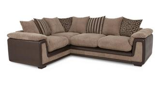 Genesis Right Hand Facing 2 Seater  Pillow Back Corner Deluxe Sofa Bed with Removable Arm