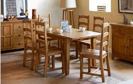 Gibson Dining Table & Set of 4 Dining Chairs Gibson