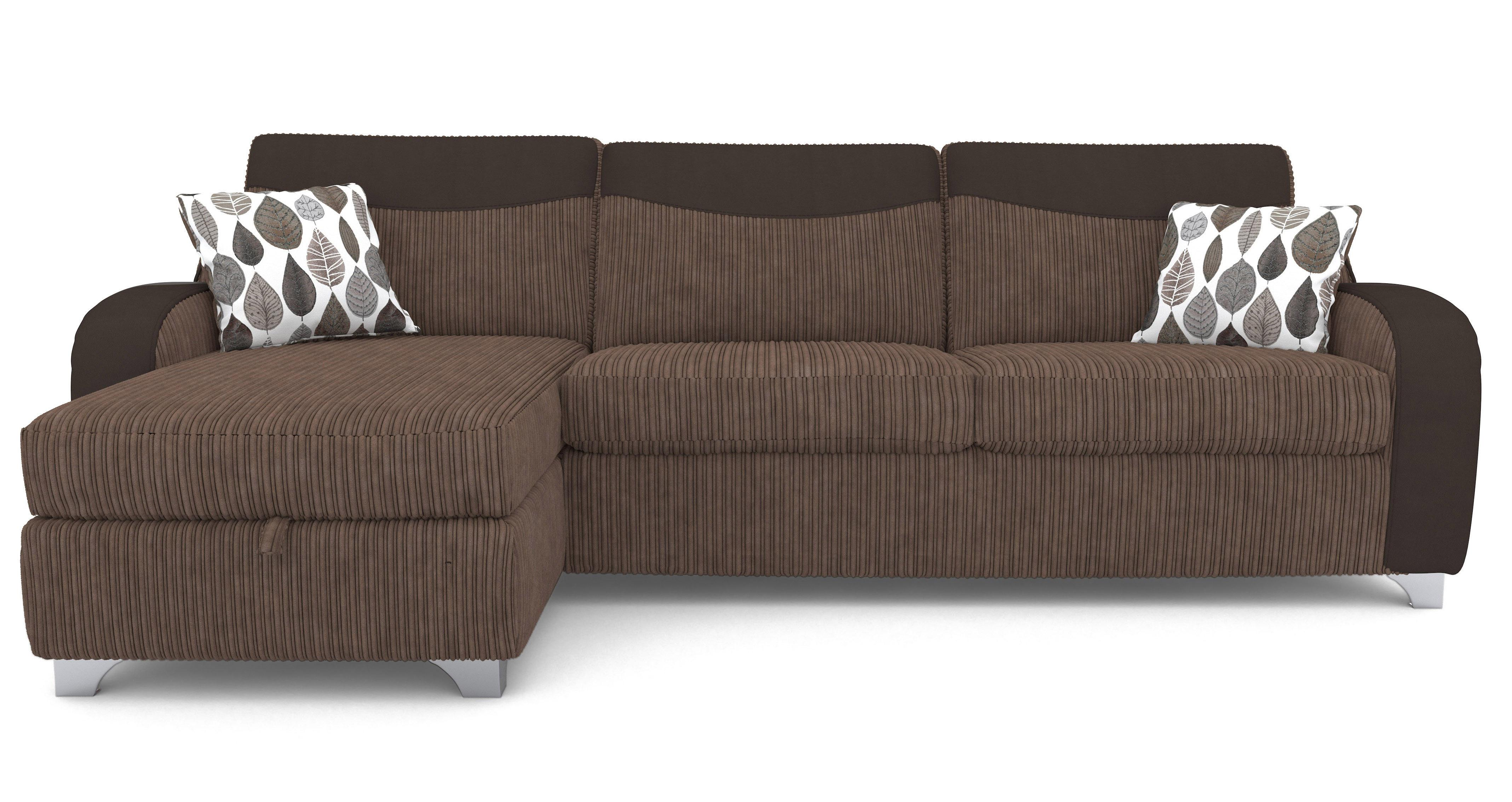 Left hand facing 3 seater storage chaise deluxe sofa bed for 3 seater sofa bed with chaise