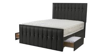 Glitz King (5 ft) 2 Drawer Bed