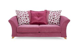 2 Seater Pillow Back Sofa Gloss