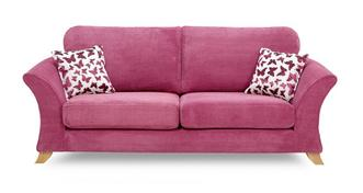 Gloss 3 Seater Formal Back Sofa