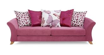 Gloss 4 Seater Pillow Back Sofa