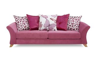 4 Seater Pillow Back Sofa Gloss
