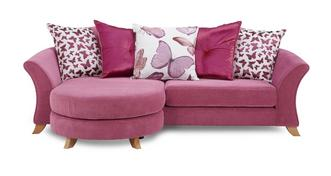 Gloss 4 Seater Pillow Back Lounger Sofa