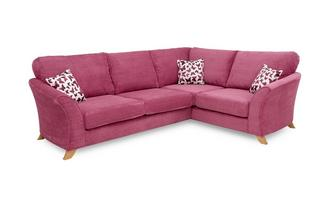 Left Hand Facing 2 Piece Formal Back Corner Sofa Gloss