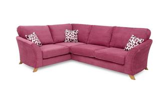 Right Hand Facing 2 Piece Formal Back Corner Sofa Gloss