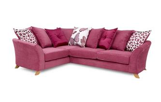 Right Hand Facing 2 Piece Pillow Back Corner Sofa Gloss