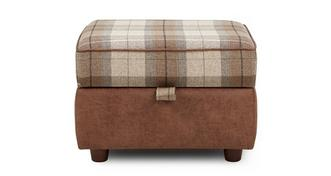 Goulding Check Top Storage Footstool