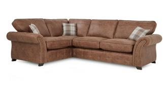 Goulding Right Hand Facing Formal Back 3 Seater Corner Sofa