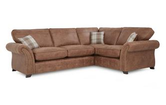 Left Hand Facing Formal Back Deluxe Corner Sofa Bed