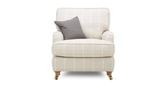 Gower Check Armchair
