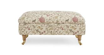 Gower Pattern Rectangular Storage Footstool
