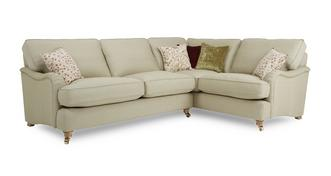 Gower Racing Plain Left Hand Facing 3 Seater Corner Sofa